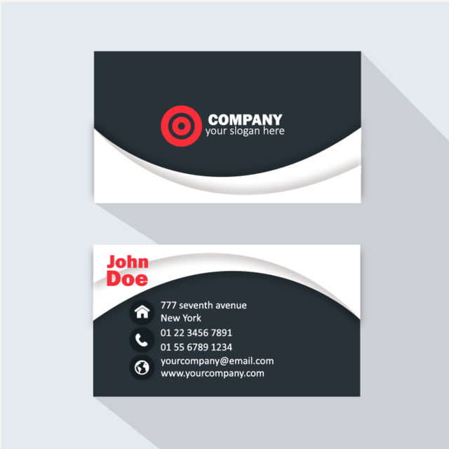 Professional Business Card Logo Template Free Download On Pngtree - Professional business card templates