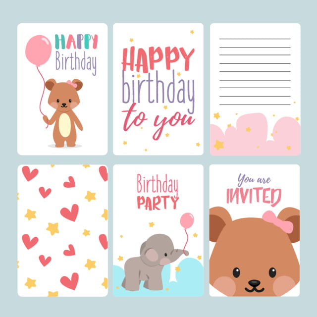 Free Royalty Free Birthday Vectors And Psd Files For Personal And