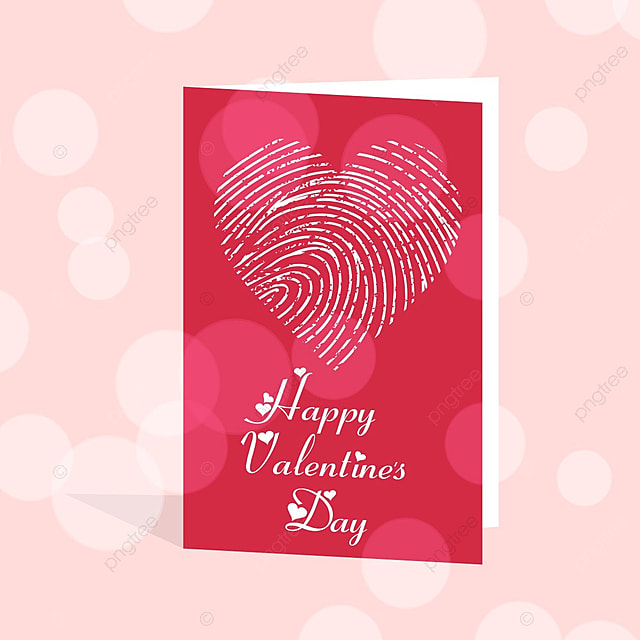 Happy Valentines Day Card With Heart Template For Free Download On