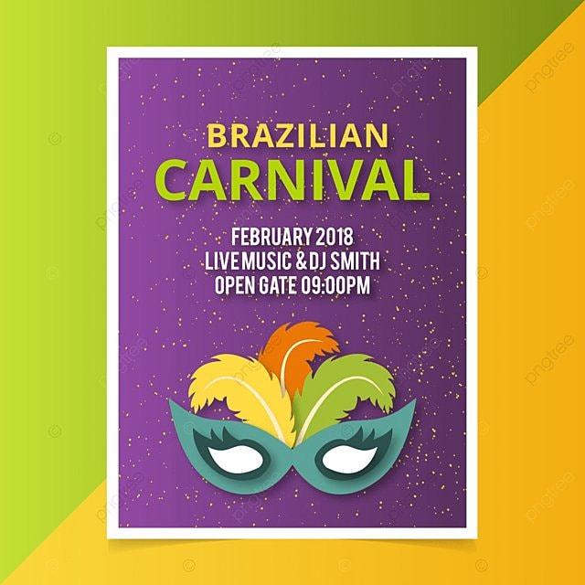 Carnaval de Brasil Poster Vector