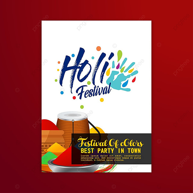 Holi festival poster vector template free download on pngtree holi festival poster vector pronofoot35fo Gallery