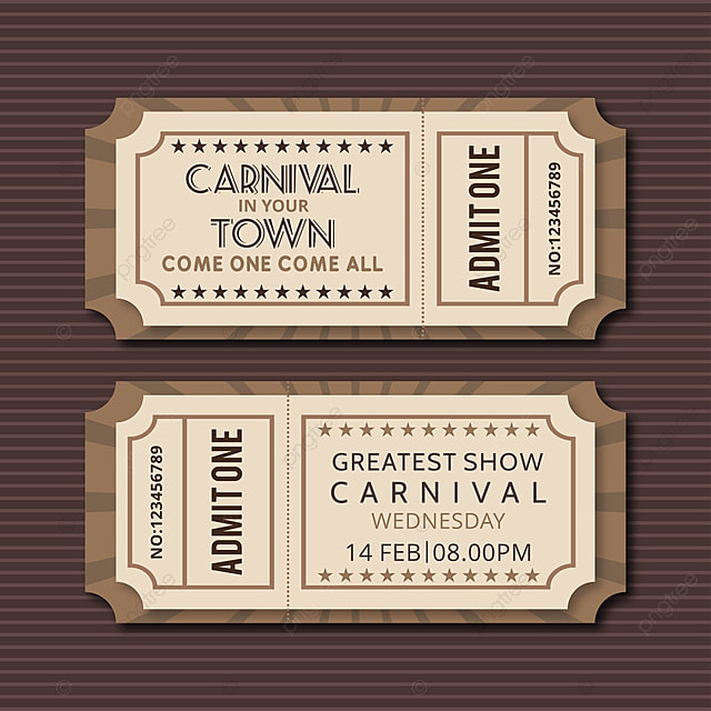 Carnival show ticket vectors Template for Free Download on Pngtree