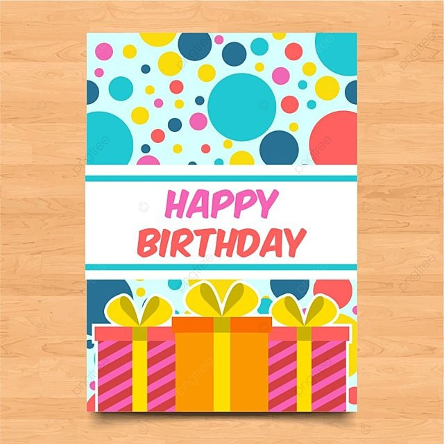 Template Of Colorful Birthday Card Template for Free Download on Pngtree