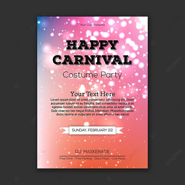 Feliz carnaval fiesta de disfraces la tarjeta de invitación Descarga ...