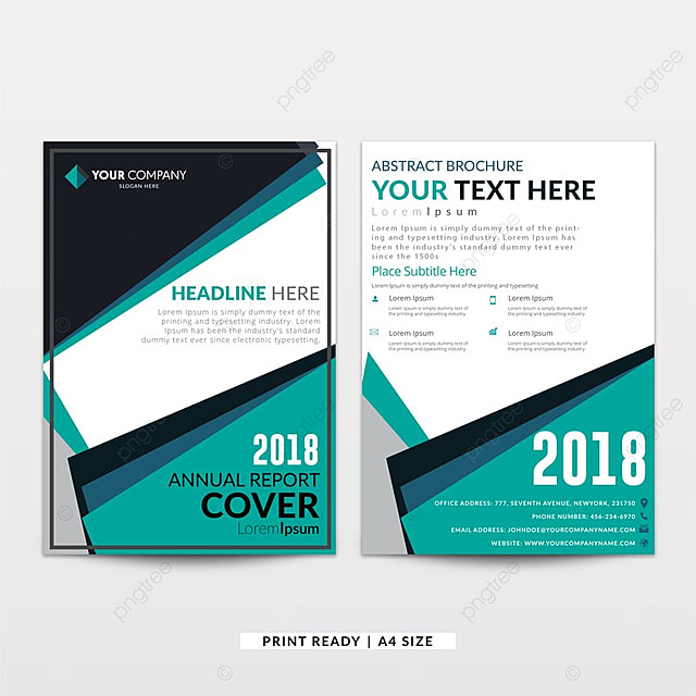 Aqua Blue And Grey Corporate Annual Report Brochure Design Template