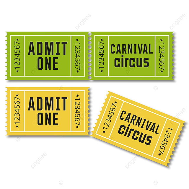 carival ticket design template for free download on pngtree