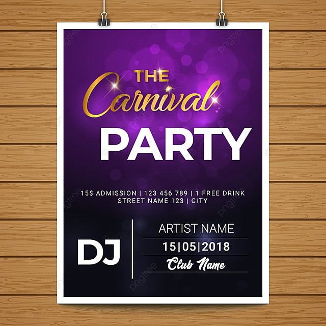 carnival poster template for free download on pngtree