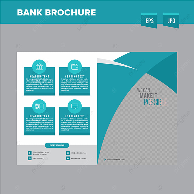corporate bank brochure design template template for free