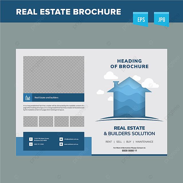Corporate Realestate Brochure Design Template Template For Free - Brochure design templates free download