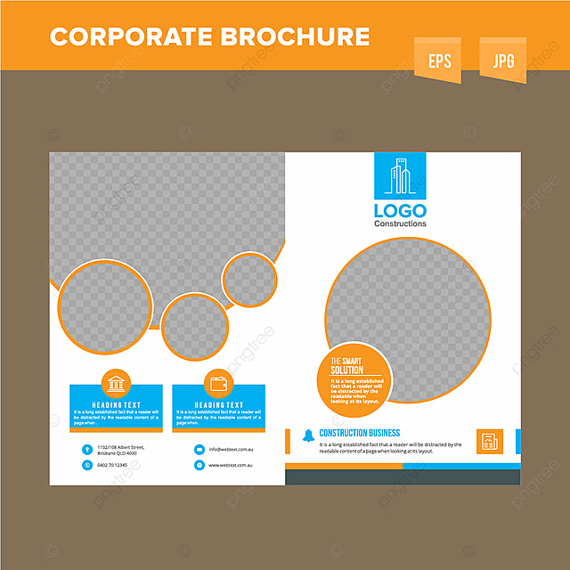 corporate construction company brochure design template