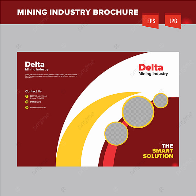 Heavy Mining Industry Brochure Design Template Template For Free