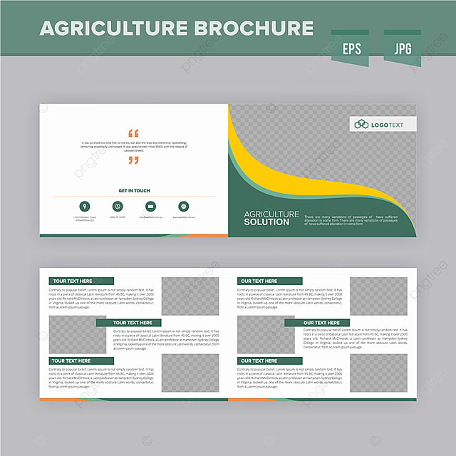 Modren Agriculture Brochure Design Template Template for ...