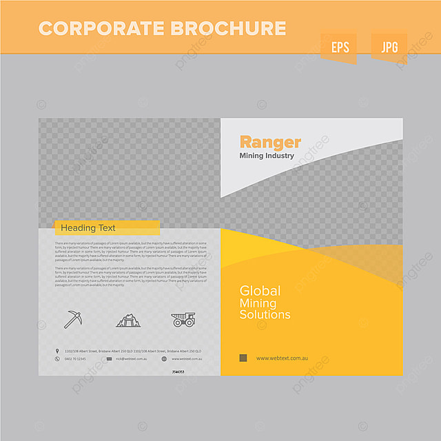heavy mining industry brochure design template template