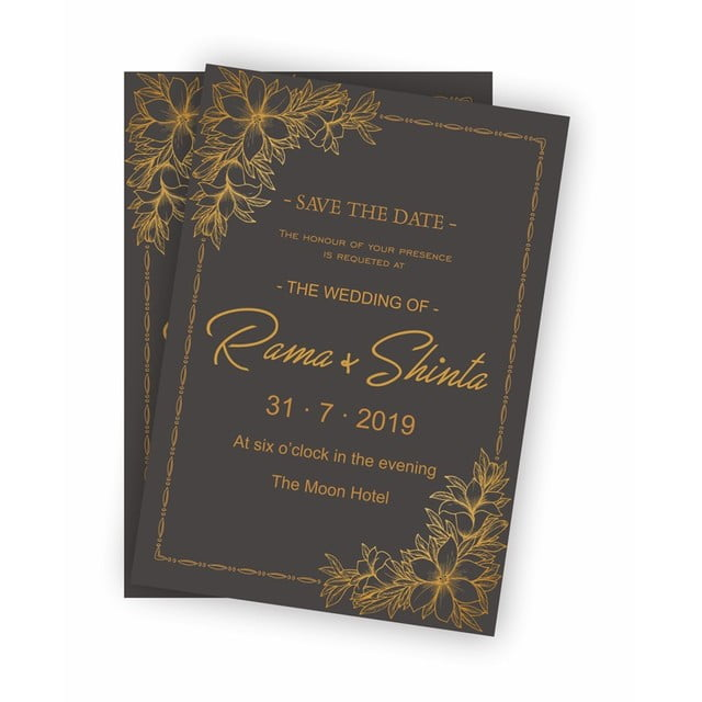black gold wedding invitation template for free download on pngtree