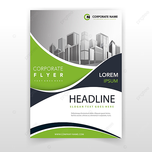 Corporate Book Cover Design Inspiration ~ Green wave cover annual report template for free