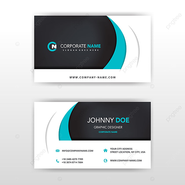 Modern Vector Double Sided Business Card Design Template