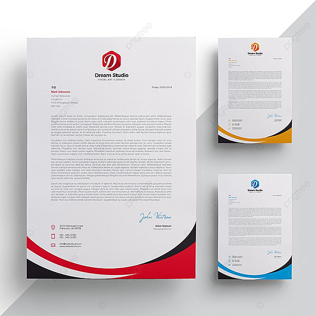 letterhead template template for free download on pngtree