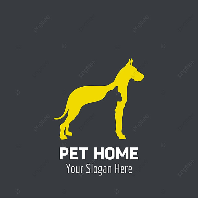 Pet Home Logo Design Red Dogs Template for Free Download on