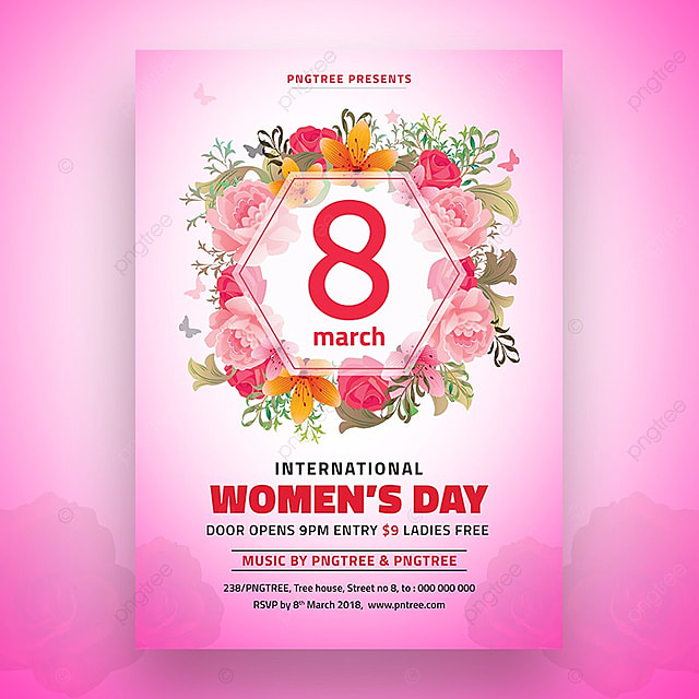 8 March Womens Day Flyer Template Template For Free