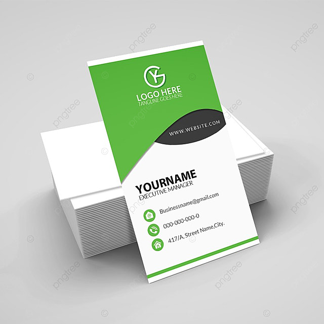 Vertical Business Card ID Mock Up