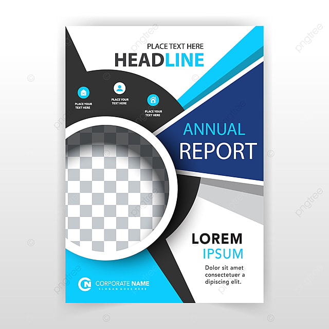 blue corporate vertical leaflet template for free download on pngtree