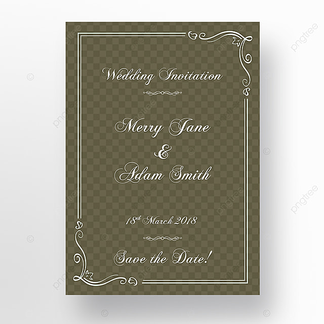 Fancy Classic Wedding Invitation Template For Free Download On Pngtree