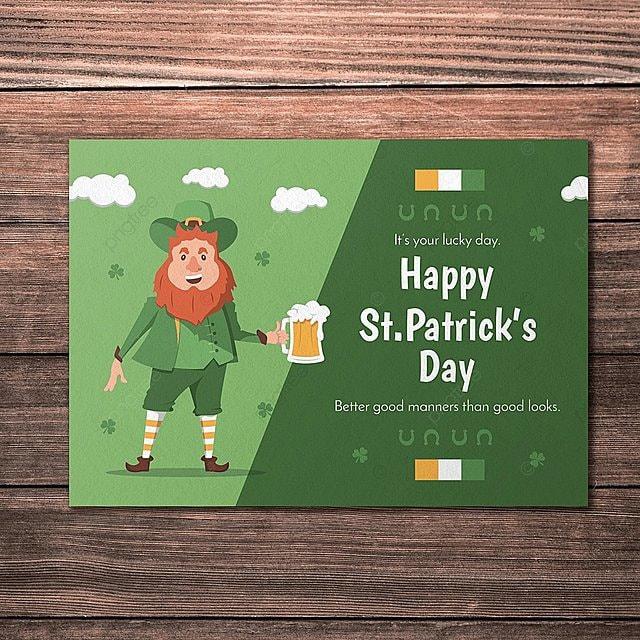 St Patricks Day Card Descarga gratuita de plantilla en Pngtree