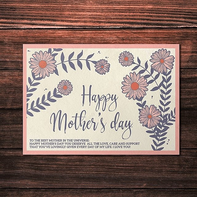 Happy Mother S Day Card Template Template For Free Download On Pngtree