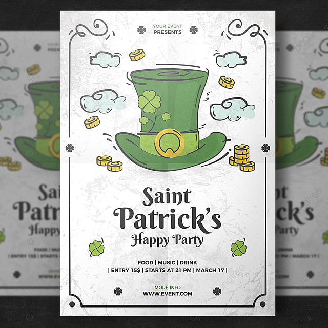 St. Patrick's Day Flyer Template For Free Download On Pngtree