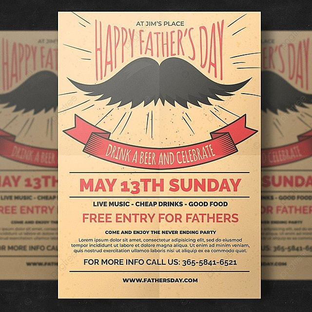 Fathers Day Flyer Template For Free Download On Pngtree