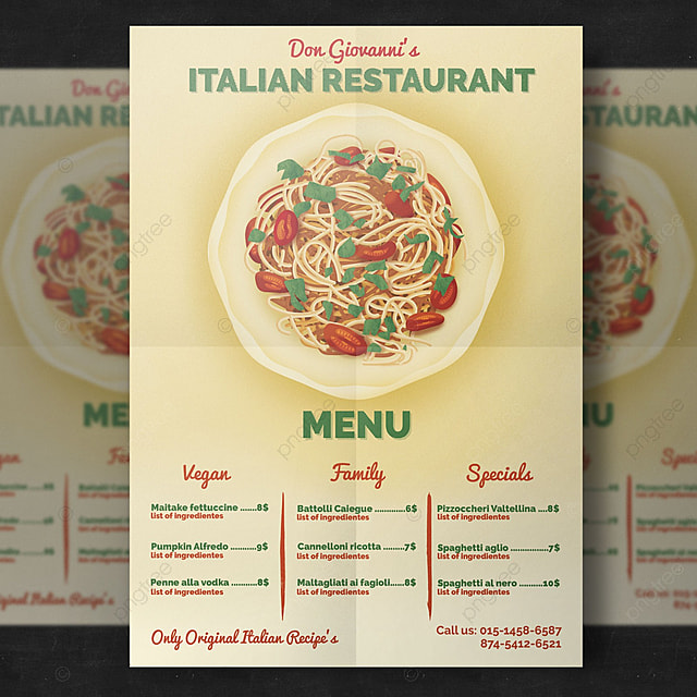 Restaurant Flyer Template Template For Free Download On Pngtree
