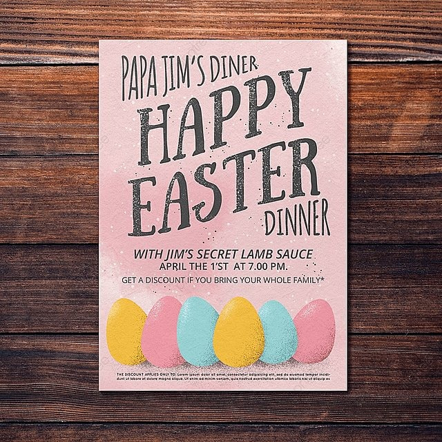 happy easter flyer template template for free download on pngtree