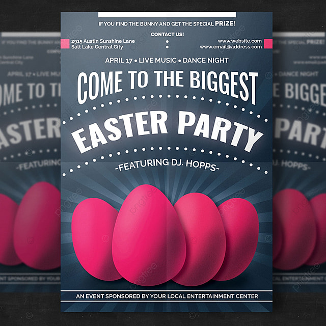 Easter Party Flyer Template For Free Download On Pngtree