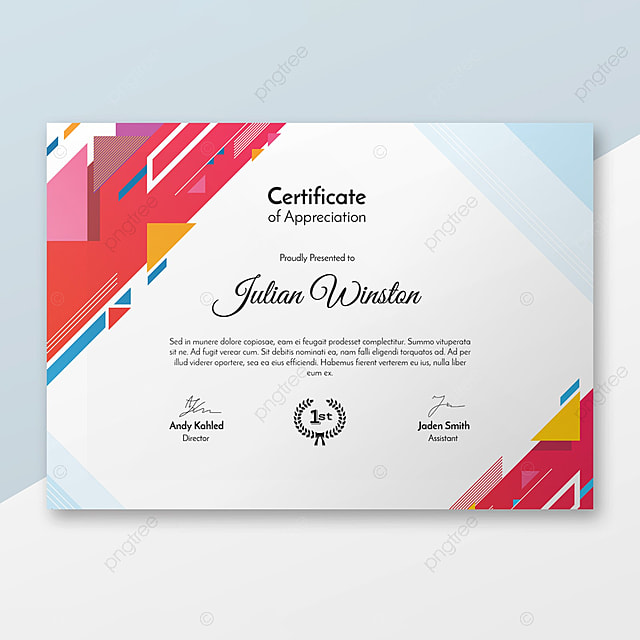 Modern Certificate Template Template For Free Download On Pngtree