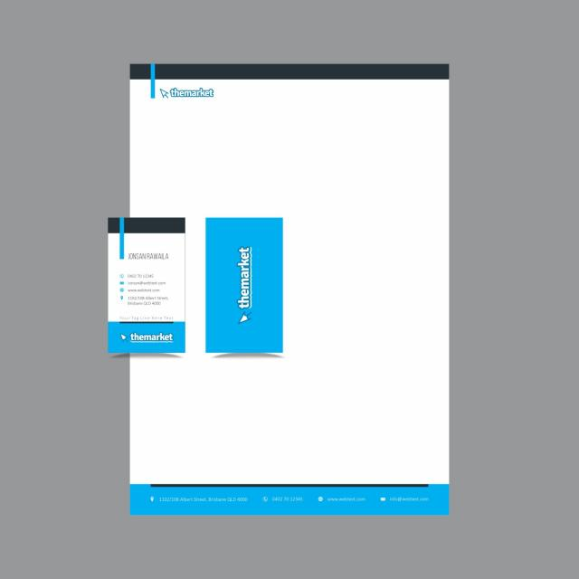 Professionelle Visitenkarten Und Briefpapier Design Layout