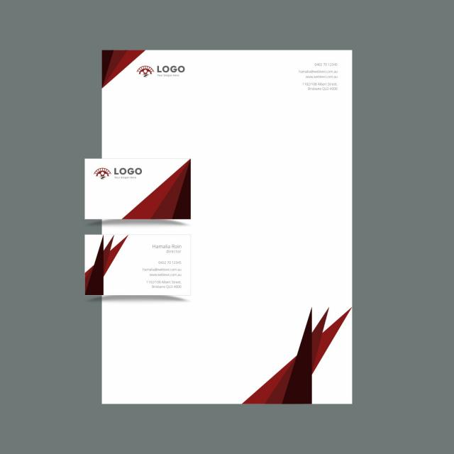 Professional business card and letterhead design layout fully professional business card and letterhead design layout fully editable vector graphics template altavistaventures Image collections