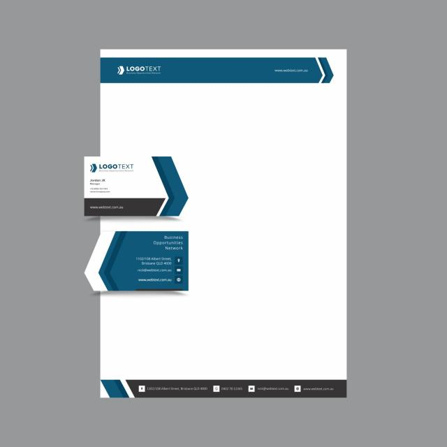 Professional Business And Letterhead Design Layout Fully Editable Vector Graphics Template