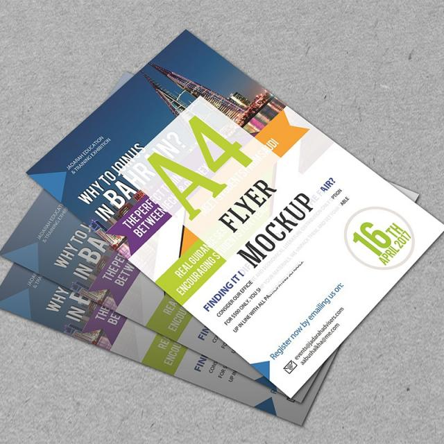 Flyer Mockup Template For Free Download On Pngtree