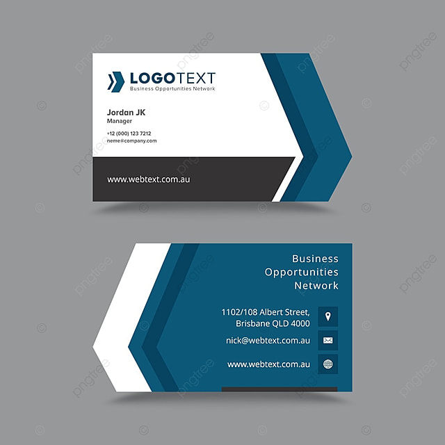 Professional Business Card Design Template Template For Free - Professional business card design templates