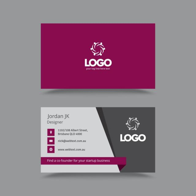 Professional Business Card Design Template Template For Free - Professional business cards templates