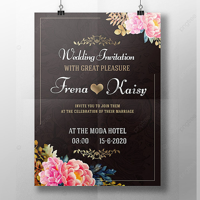 Brown Wedding Card Template For Free Download On Pngtree