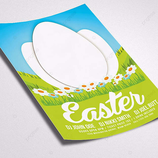 free easter flyer templates download