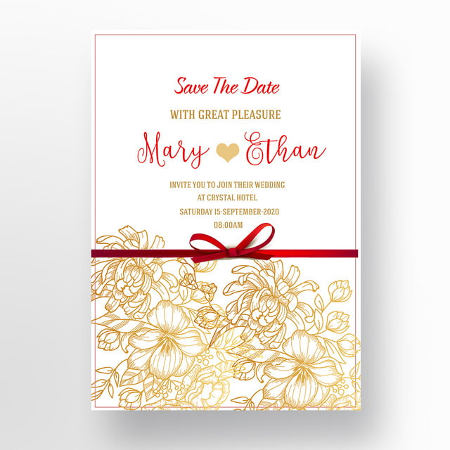 red roses wedding invitation template