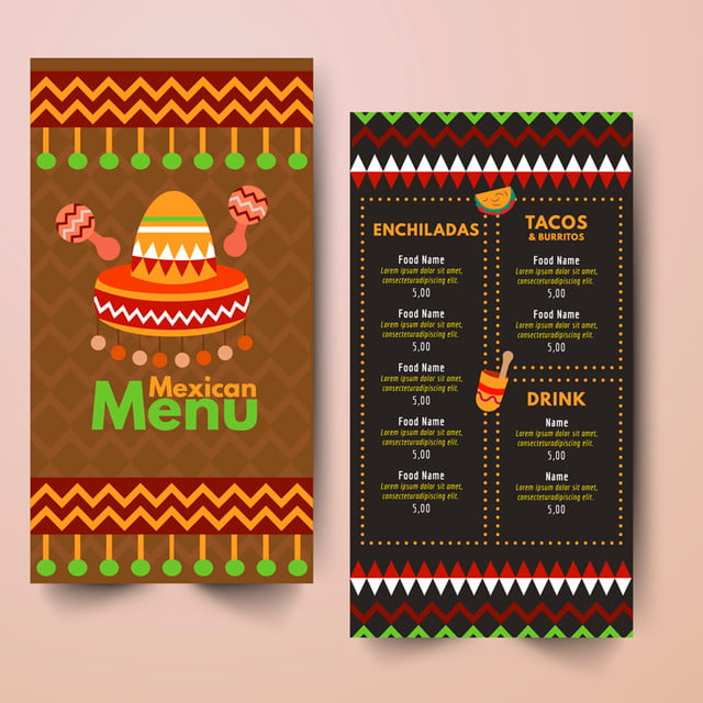 design of mexican restaurant menu template for free download on pngtree