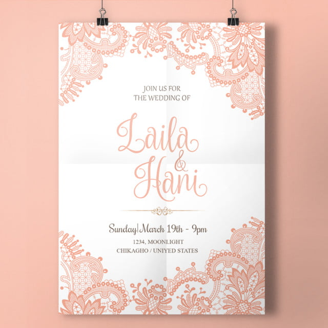 pink lace wedding Template for Free Download on Pngtree