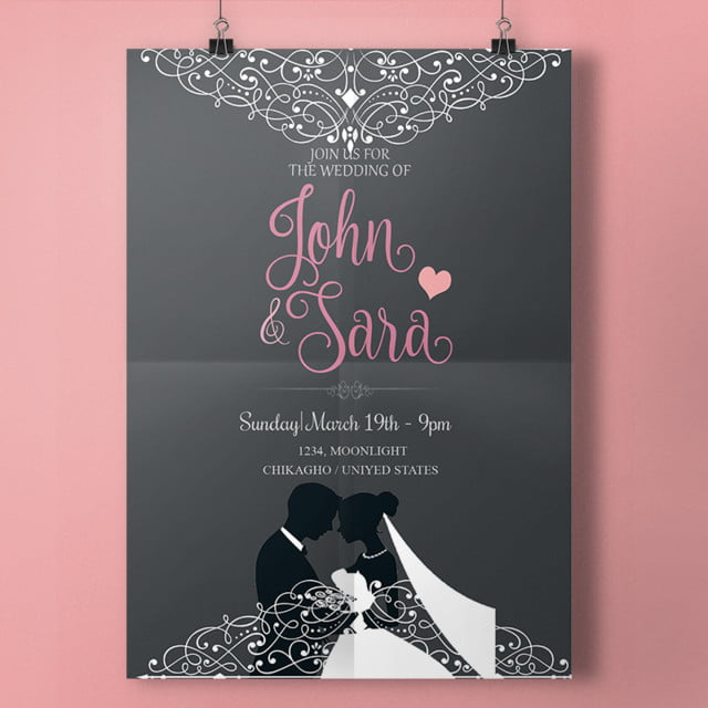 script wedding card Template for Free Download on Pngtree