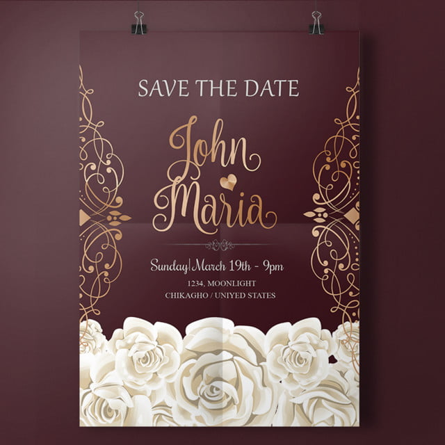 royal elegant wedding invitation template for free download on pngtree
