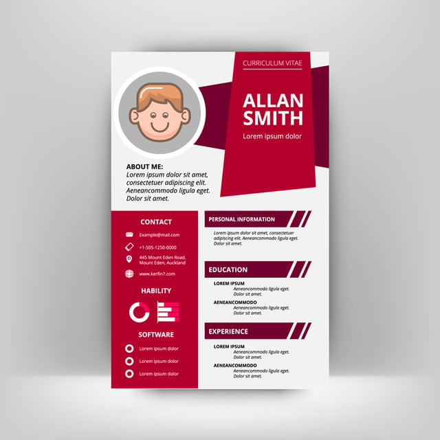 Creative Design Moderno Cv Modelo Para Download Gratuito No Pngtree