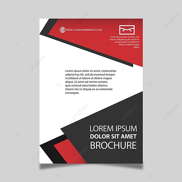 Red Black And White Brochure Template For Free Download On Pngtree