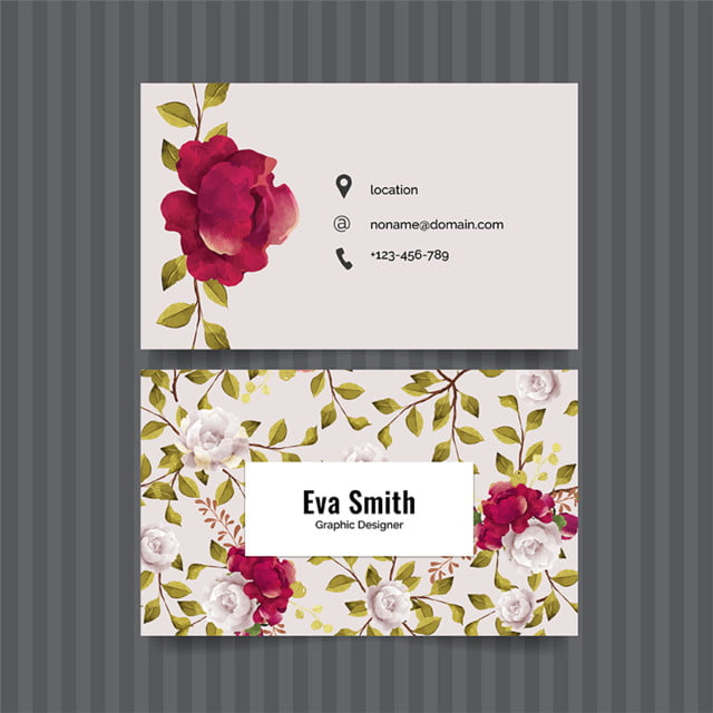 Floral business card template for free download on pngtree floral business card template cheaphphosting Gallery